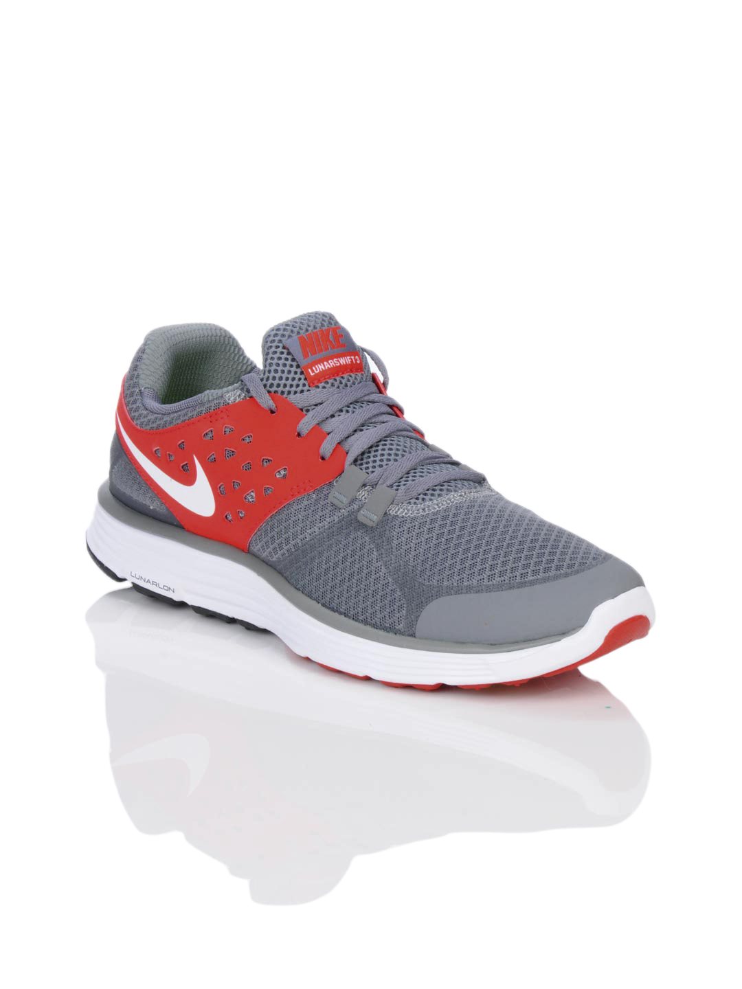 Nike Men Lunarswift +3 Grey Sports Shoes