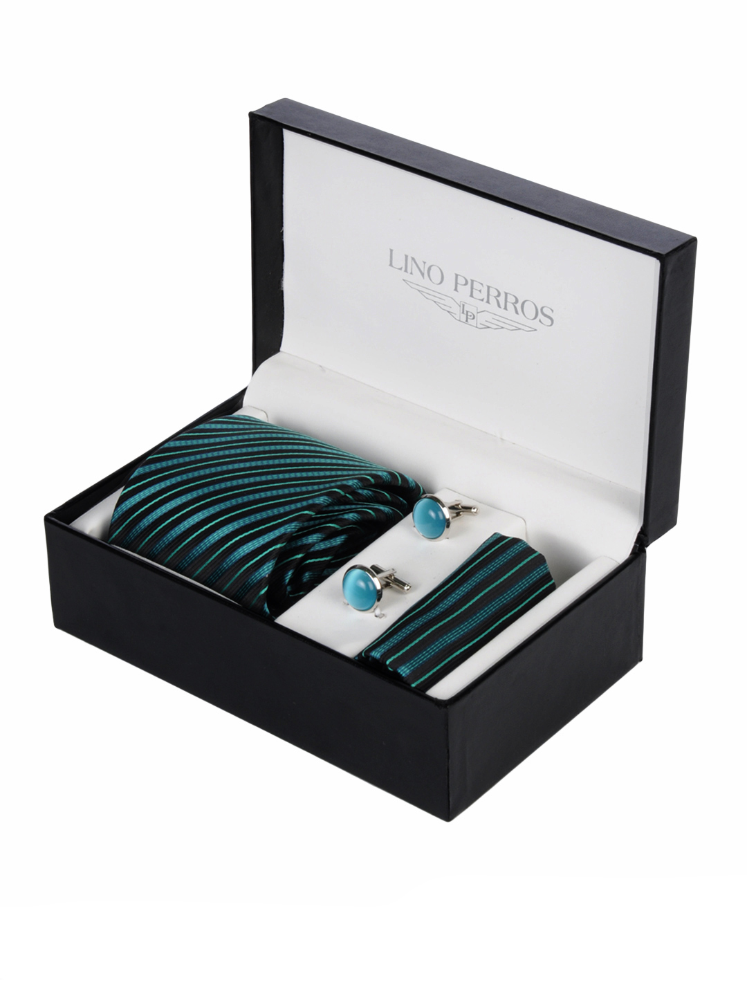 Lino Perros Men Formal Turquoise Blue Accessory Gift Set