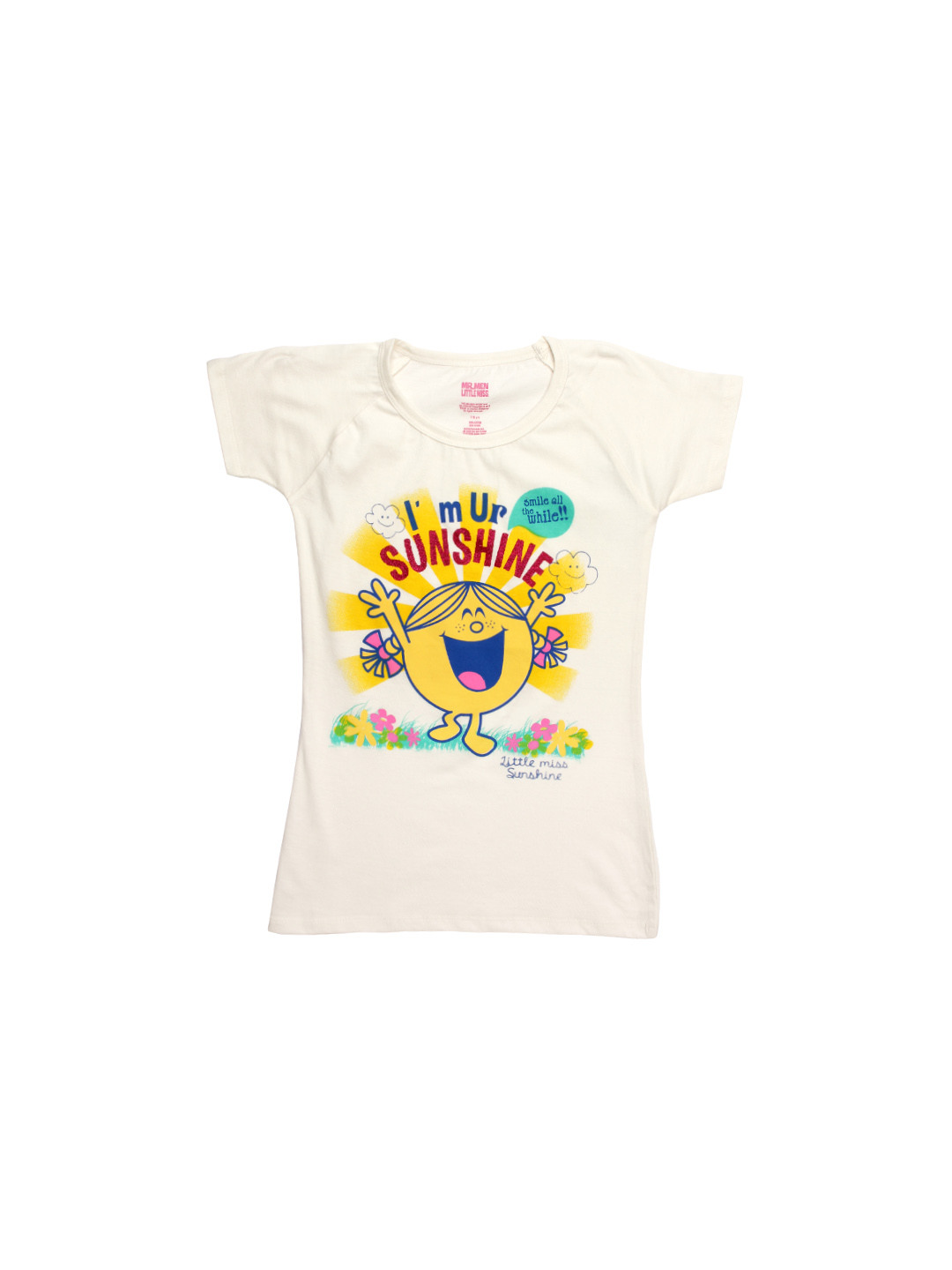Mr. Men Little Miss Girls Off White Top