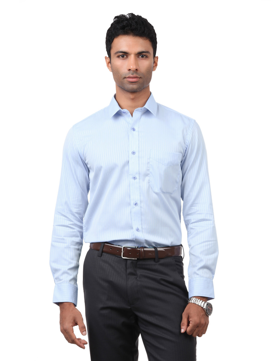 Black Coffee Men Blue Shirt