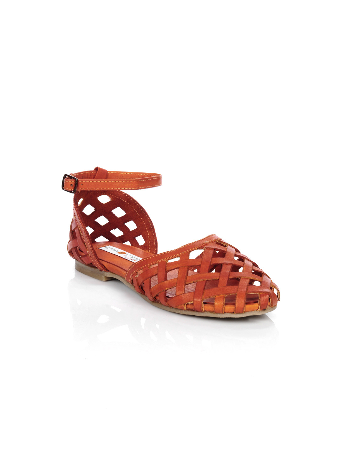 Enroute Teens Orange Sandals