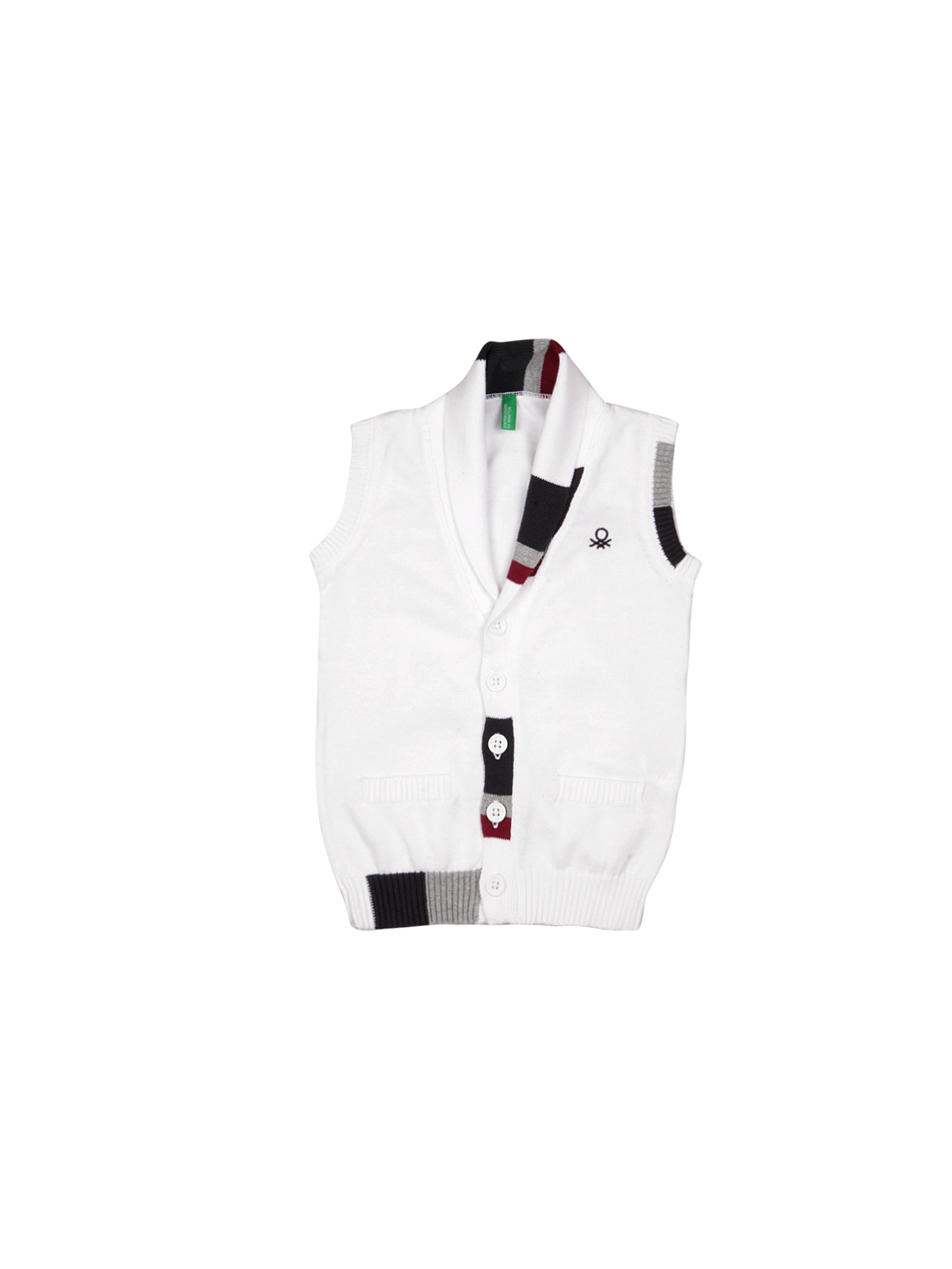 United Colors of Benetton Boys White Waistcoat