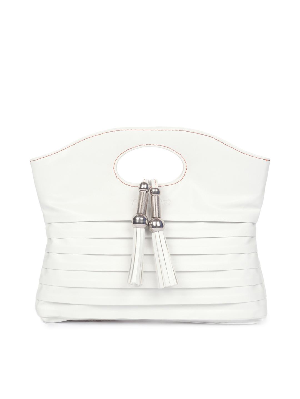 Spice Art  Women Pleated White Handbag