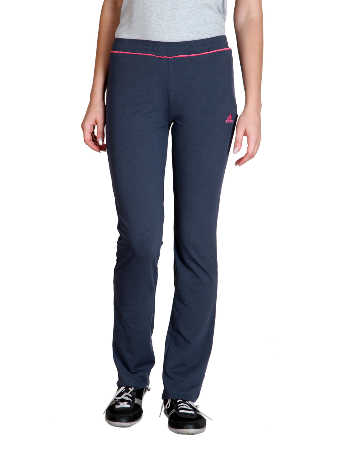 Adidas Women Navy Blue Track Pants