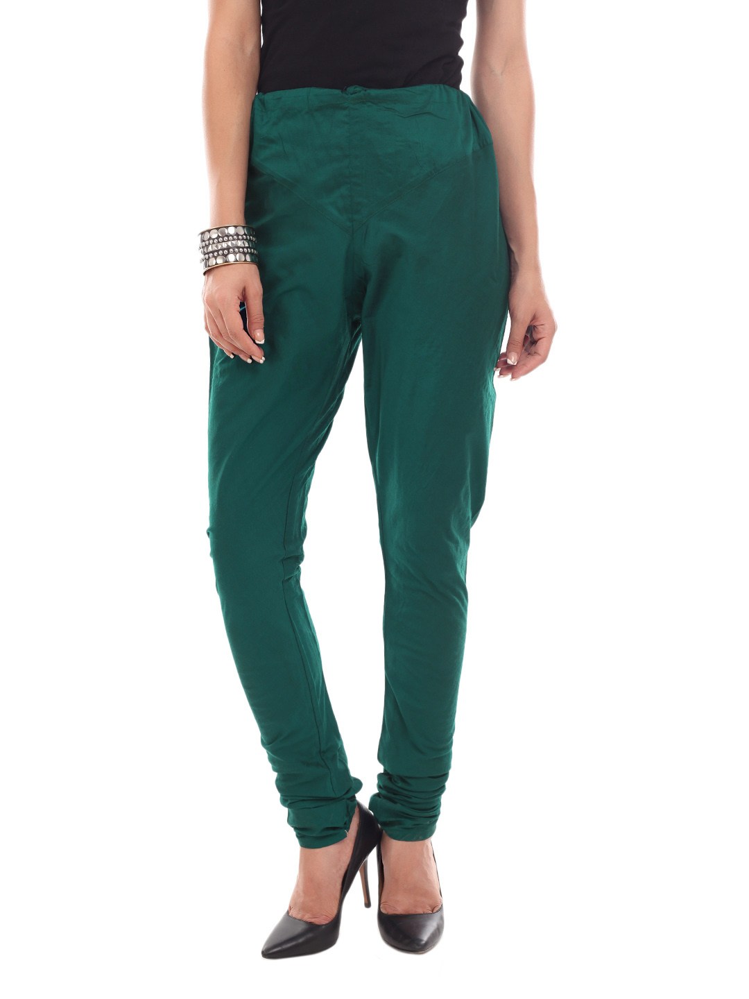 New Fashion 2015 Womens Pants Ladies Sexy Leggings Dark Green Sport High