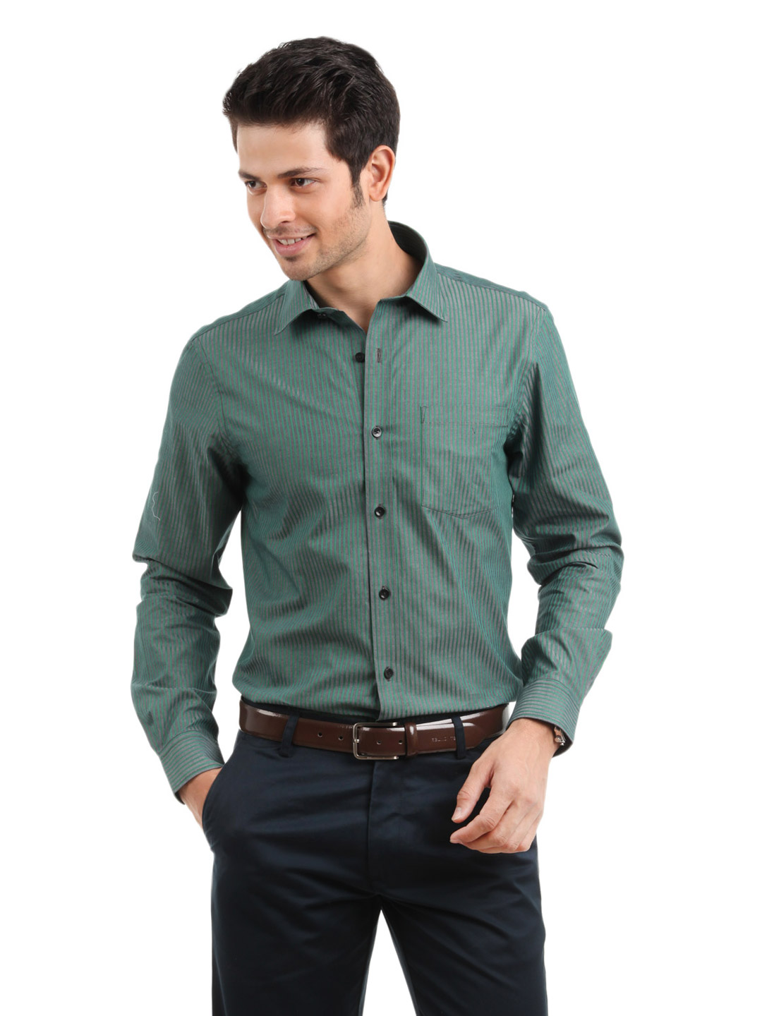 Arrow Men Green Shirt