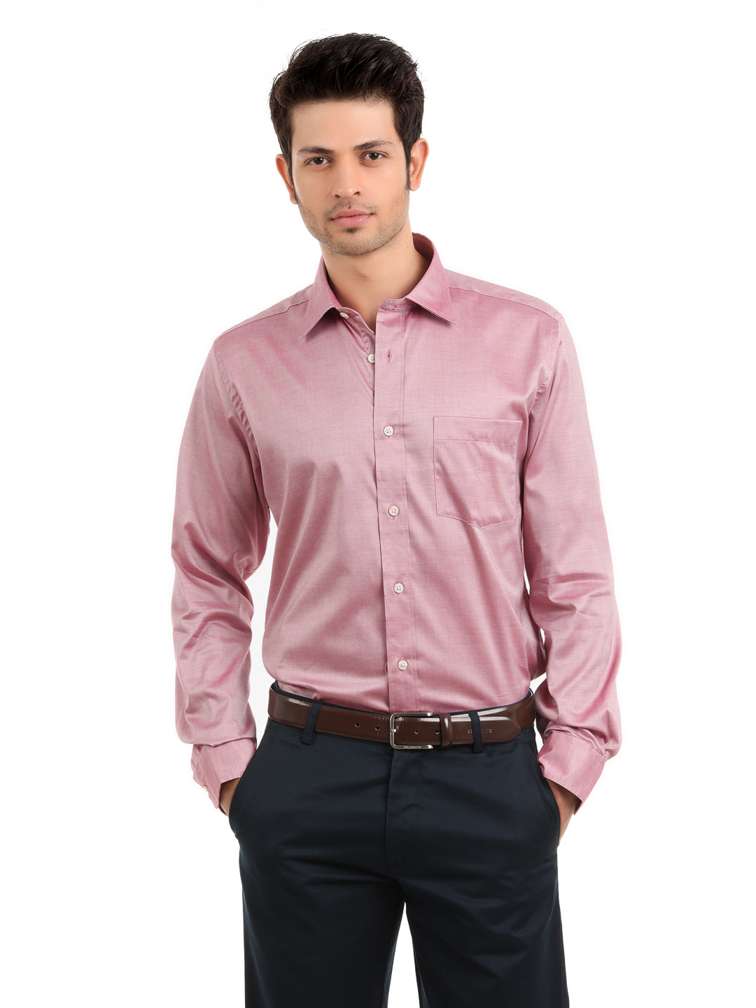 Arrow Men Pink Slim Fit Shirt