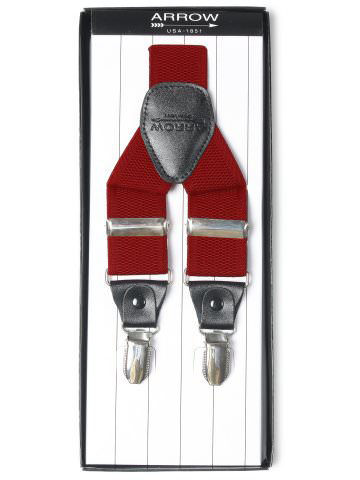 Arrow Men Red Suspenders
