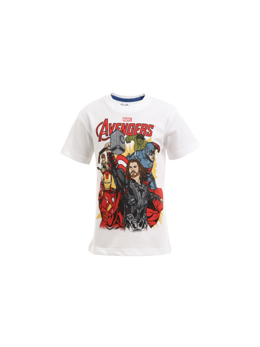 Avengers Boys White T-shirt