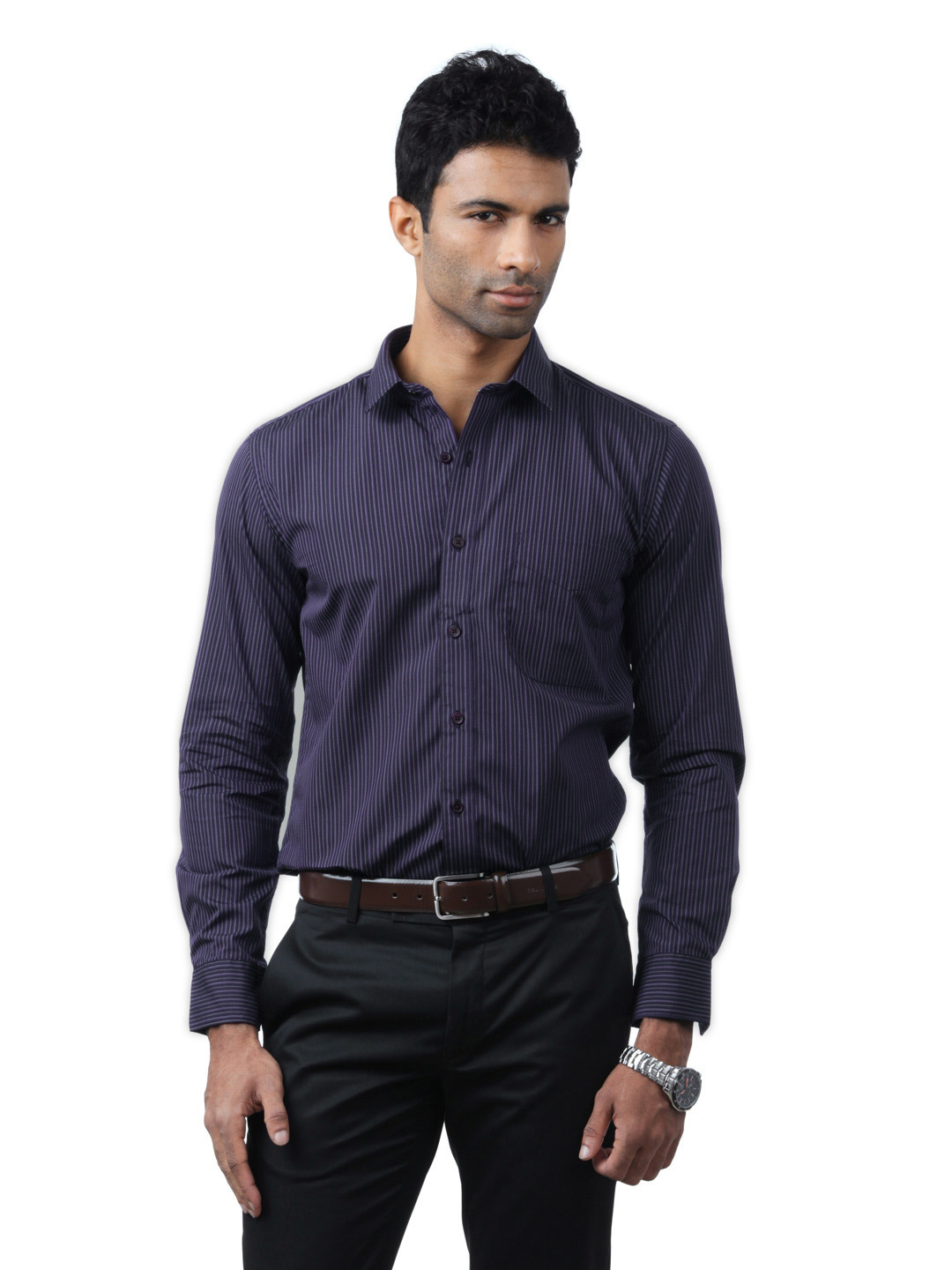 Black Coffee Men Purple Shirt