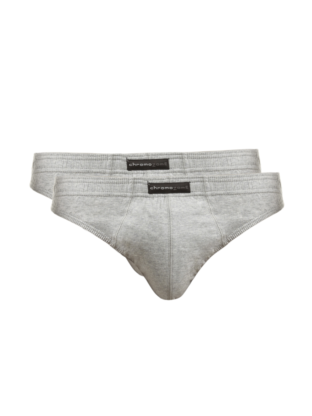 Chromozome Men Grey Melange Pack of 2 Briefs