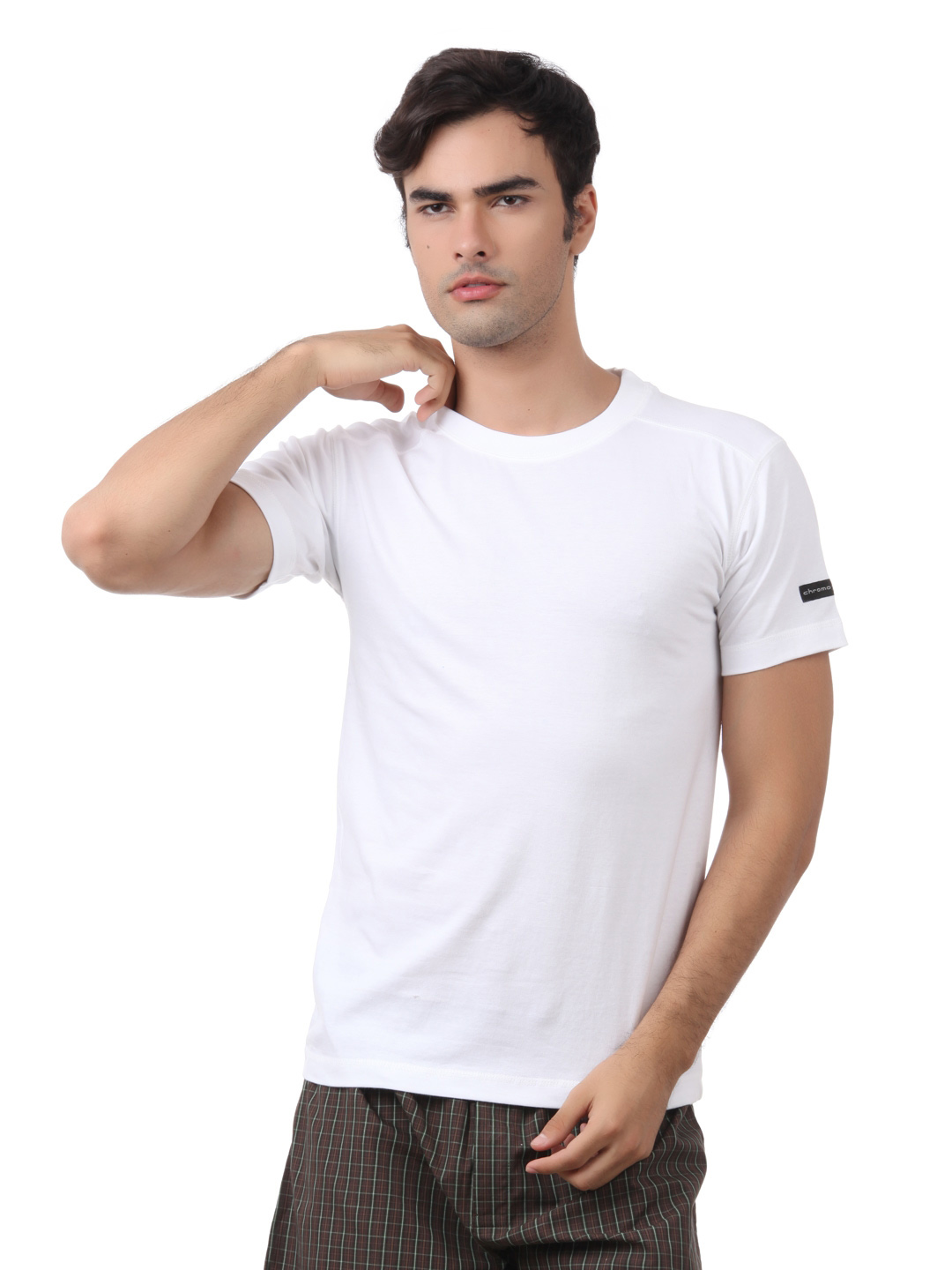 Chromozome Men White Innerwear T-shirt
