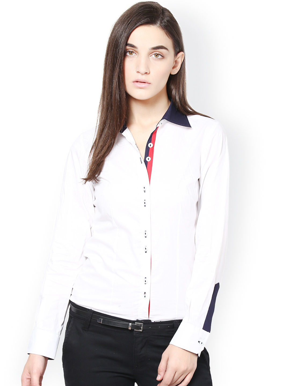 white formal shirt for women is shirt