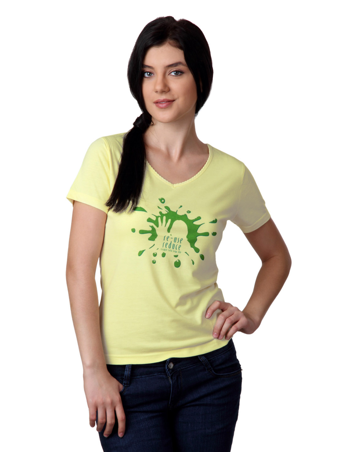 Do u speak green Women Yellow Top