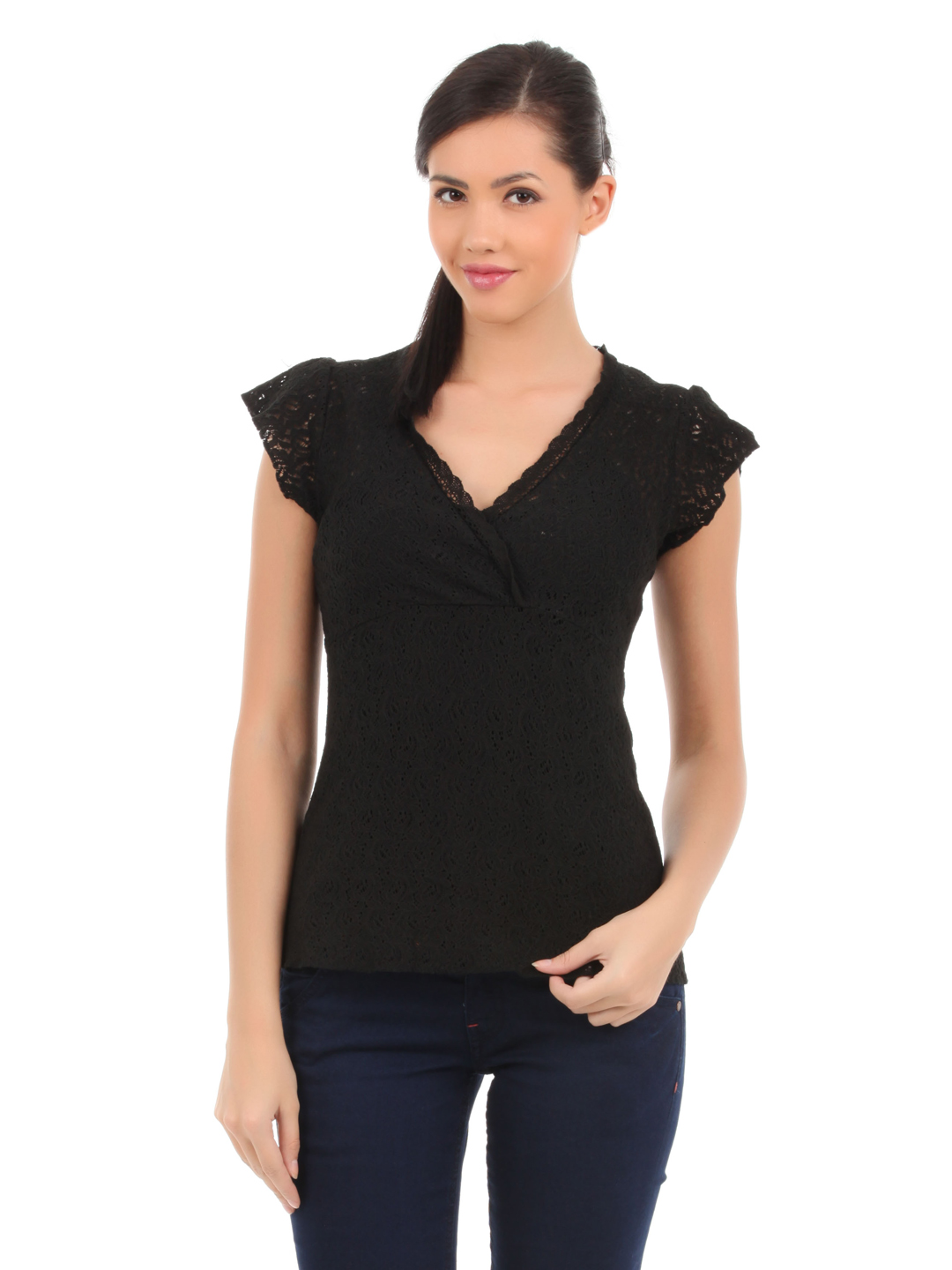 Elle Women Black Top