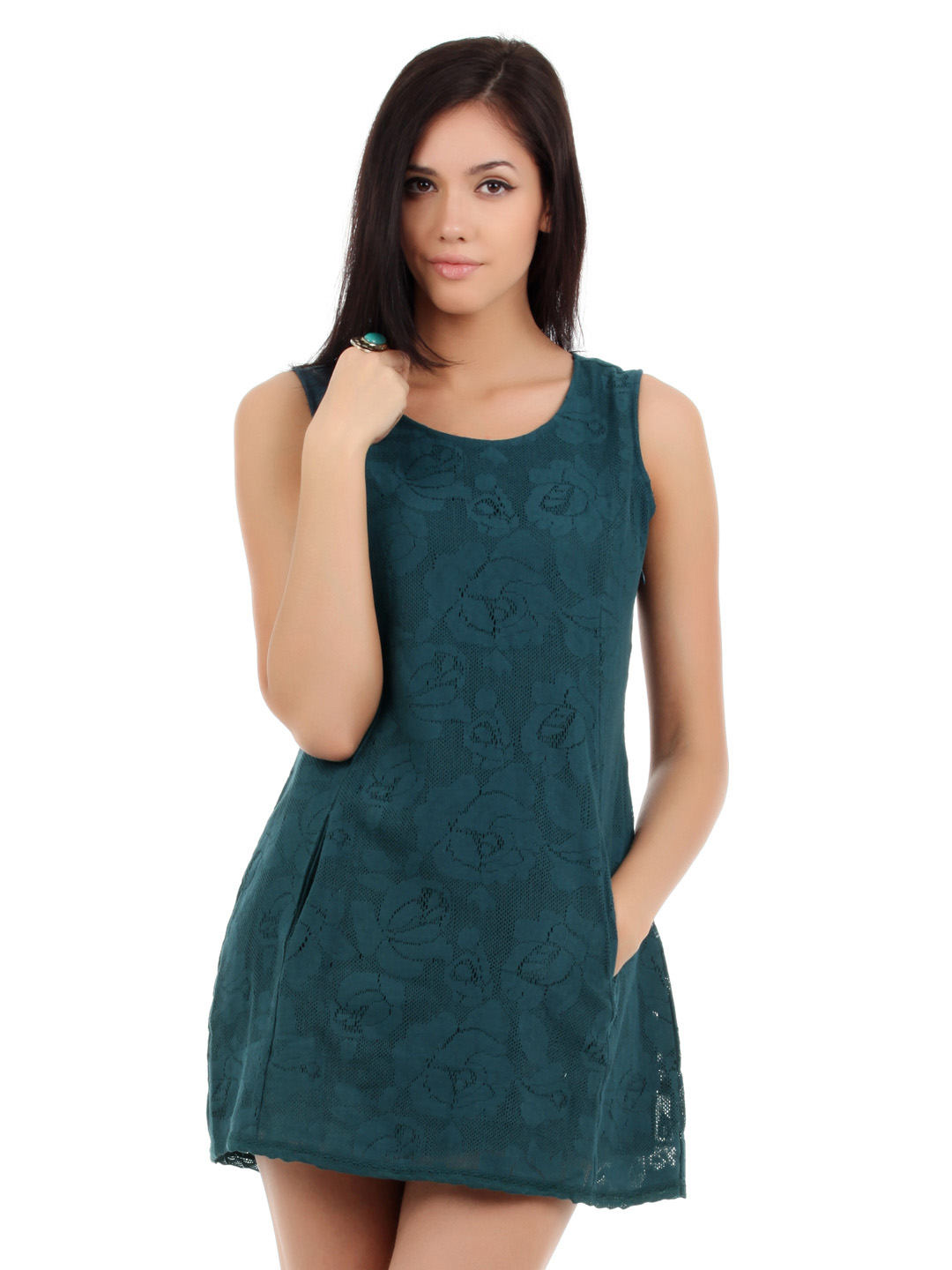 Elle Women Teal Dress