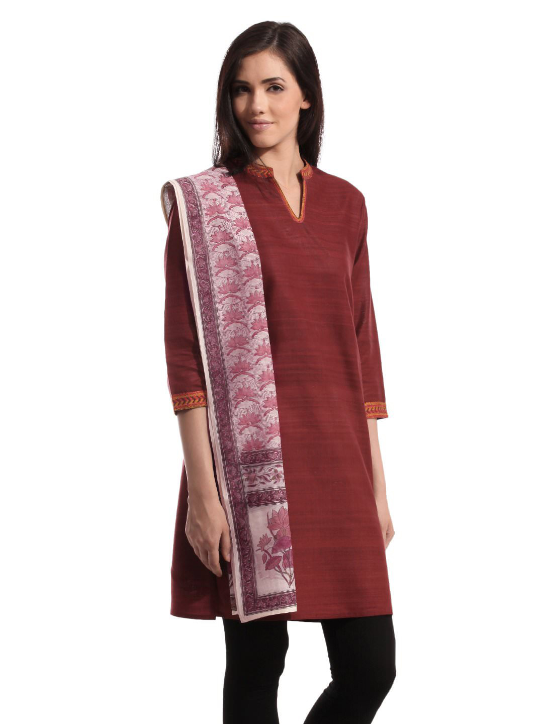 Fabindia Women Chanderi Multi Coloured Stole