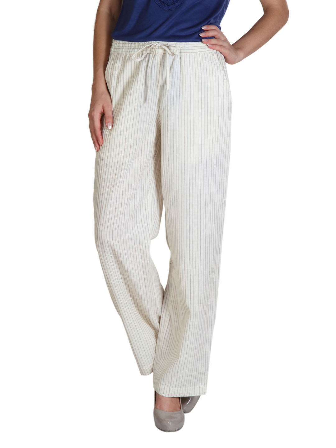 Fabindia Women Cream Pyjamas