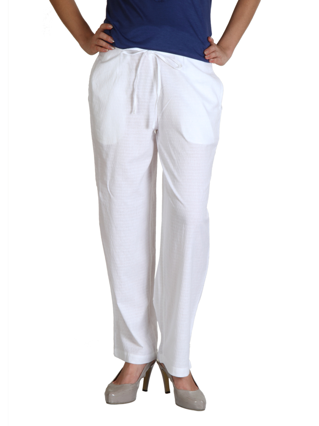 Fabindia Women White Pyjamas
