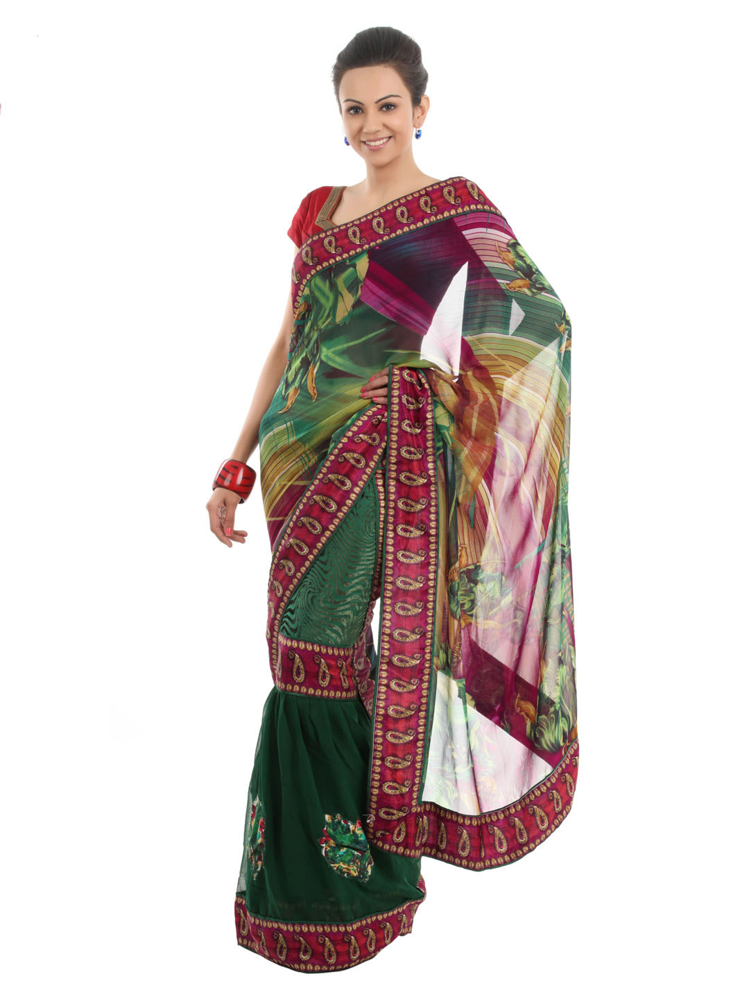 FNF Multi Coloured Sari