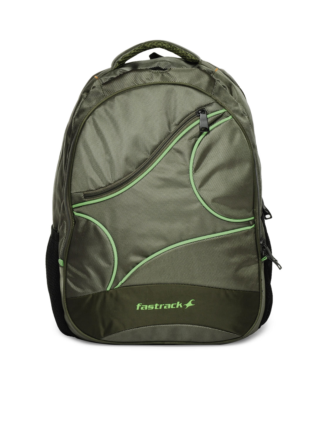 Fastrack Unisex Green Backpack