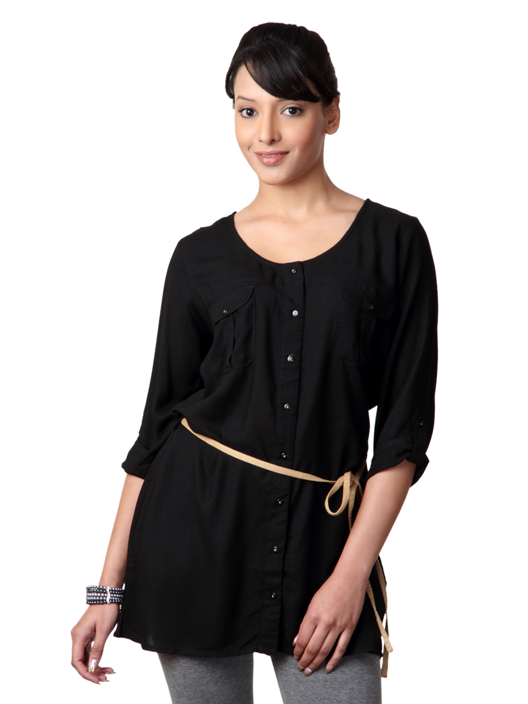Femella Women Black Tunic