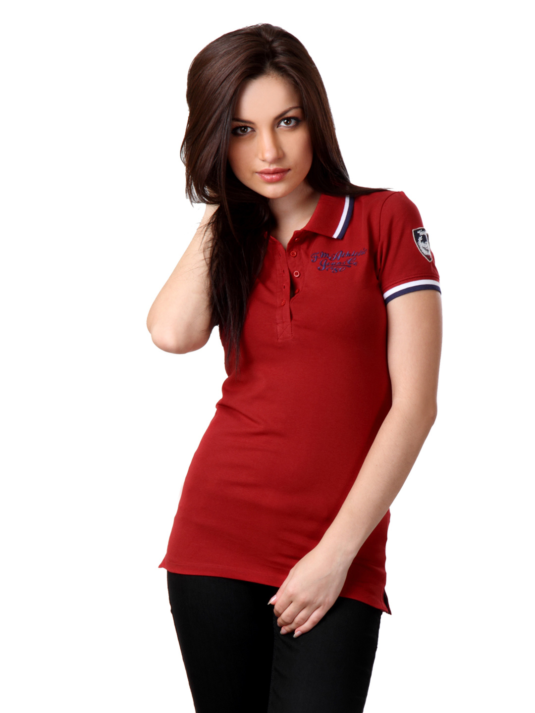 Flying Machine Women red T-shirt