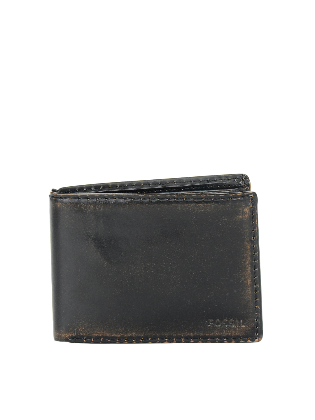 Fossil Men Faded Black Wallet