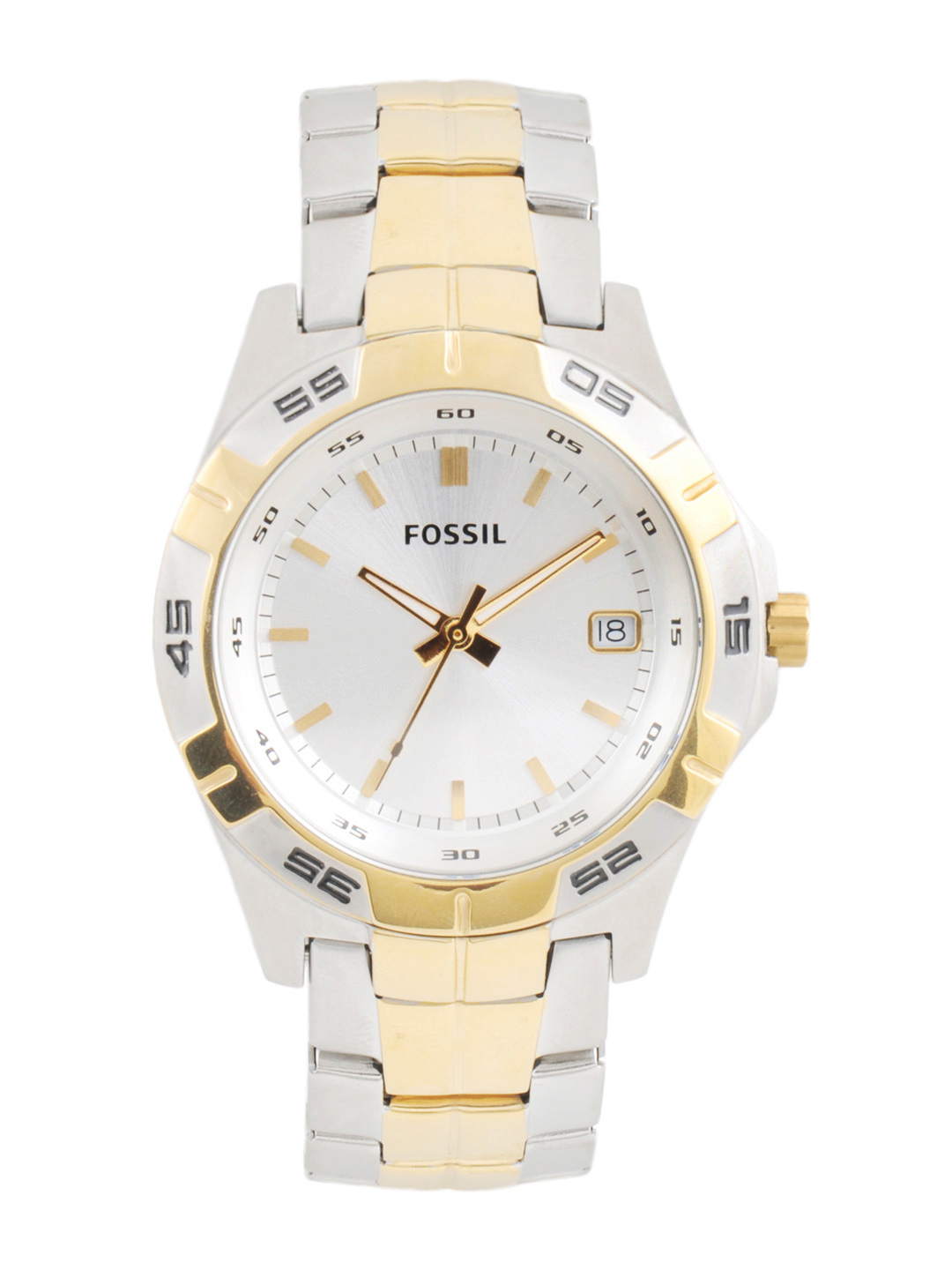 Fossil Men Silver Dial Watch