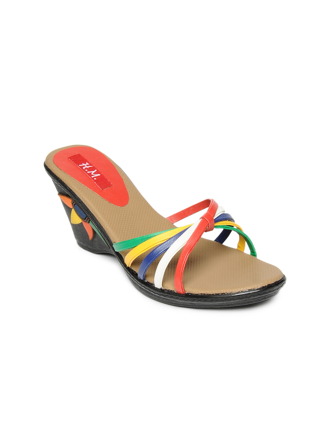HM Women Multi Coloured Sandals