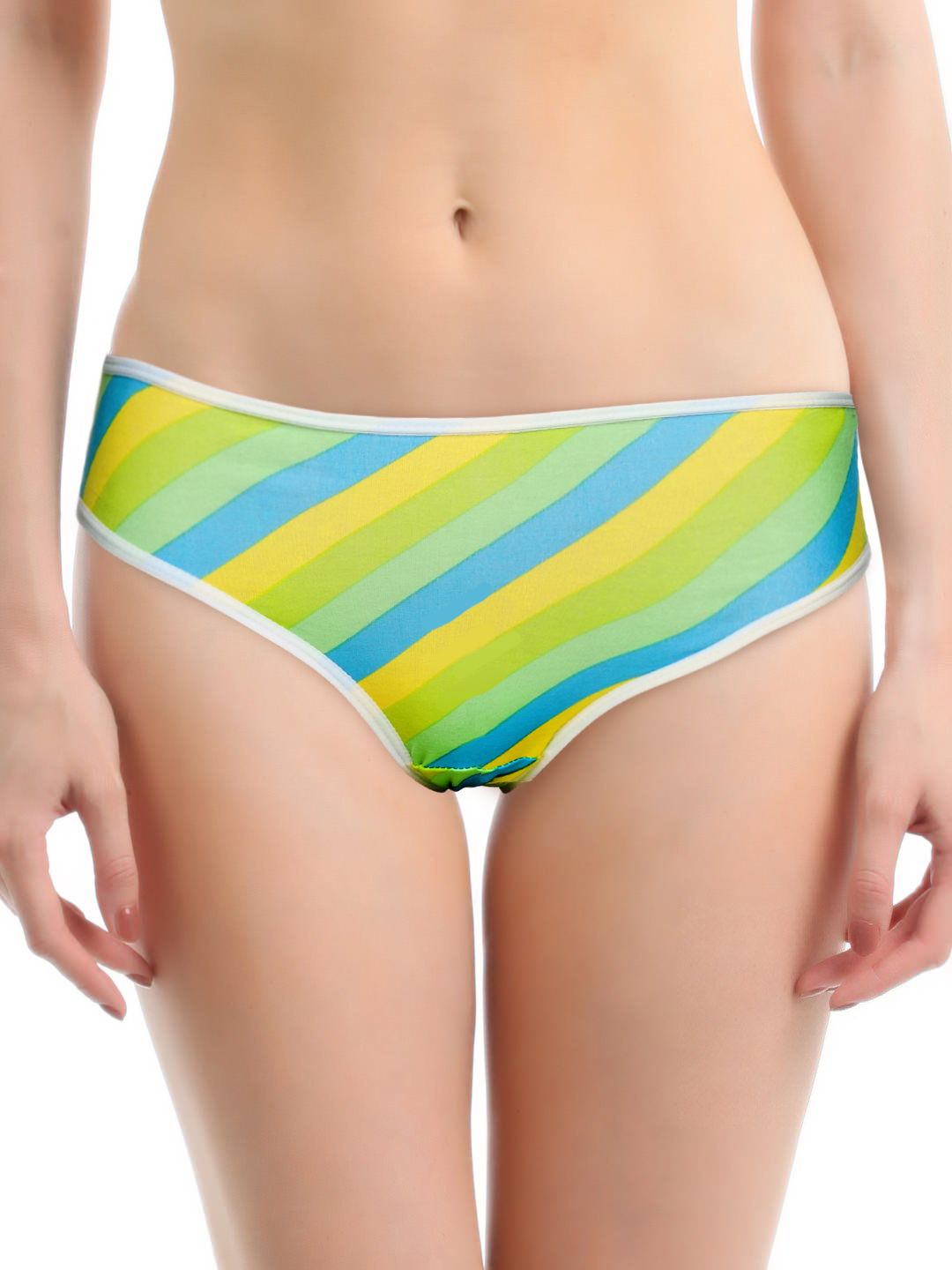 Heart 2 Heart Women Multicoloured Diagonal Striped Briefs