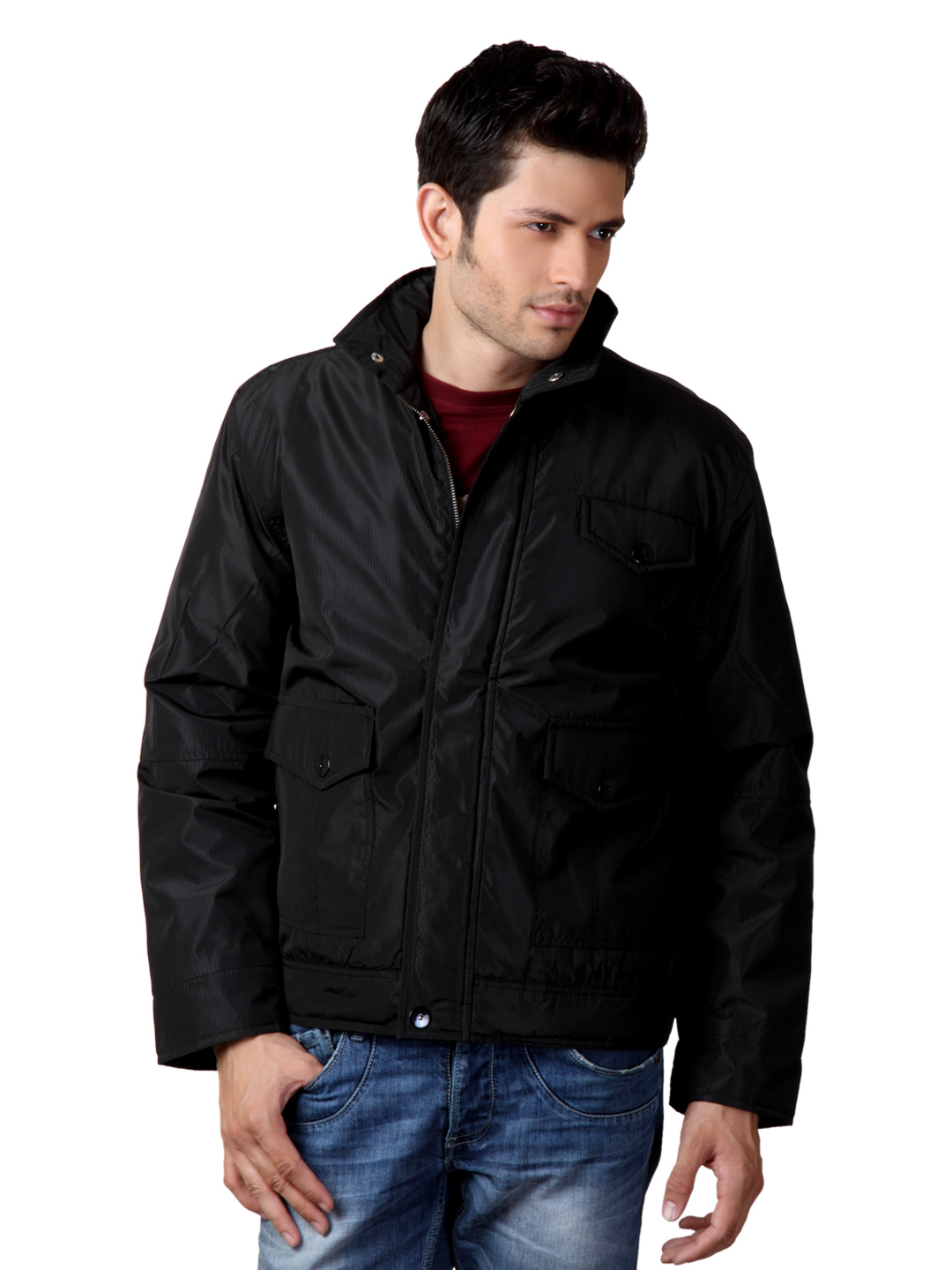 Just Natural Men Black Jacket
