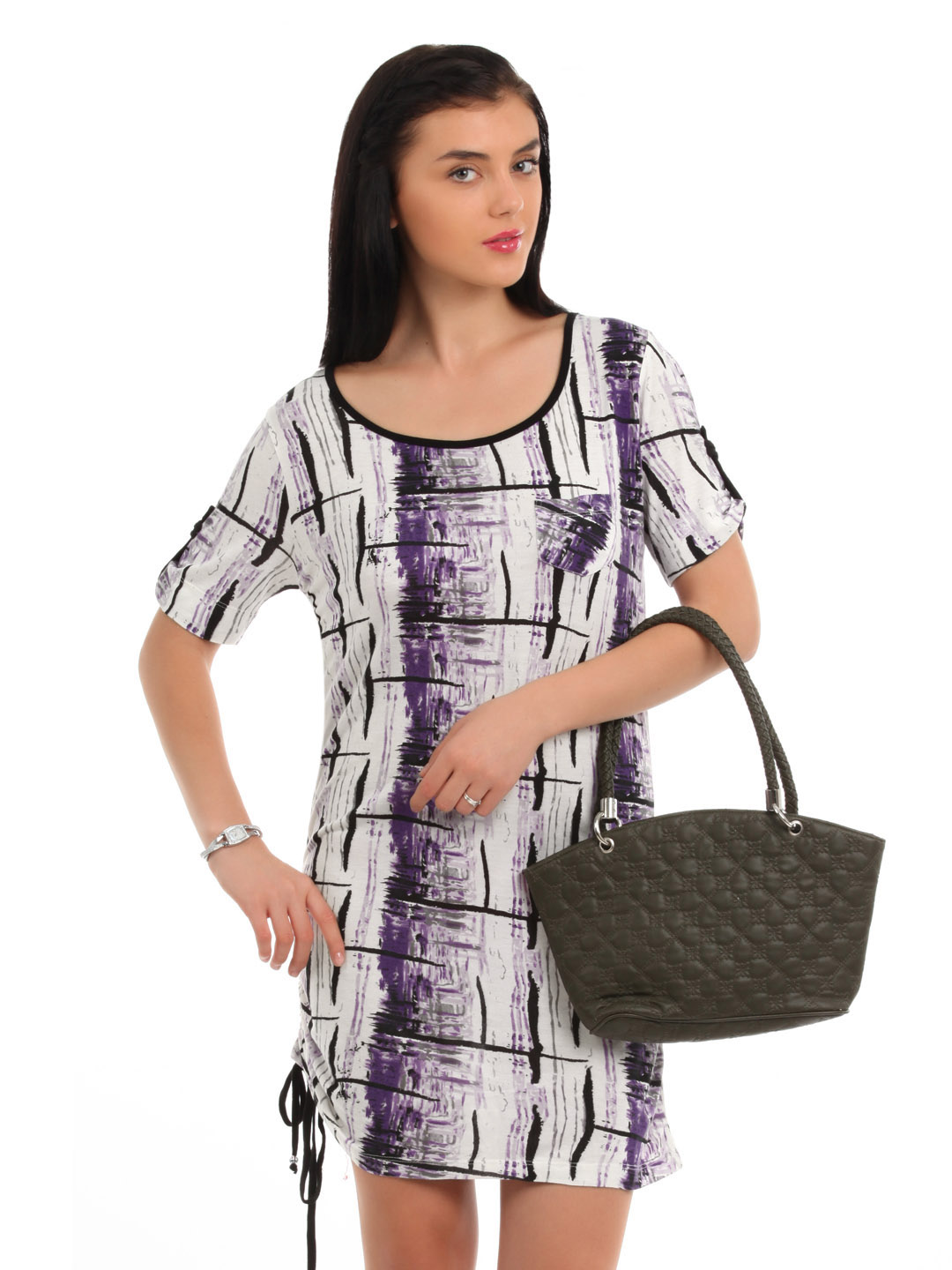 Latin Quarters Women White Printed Tunic