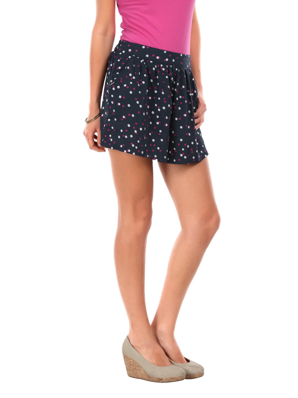 Lee Women Navy Marie Polka Dot Shorts Letr Apparel For