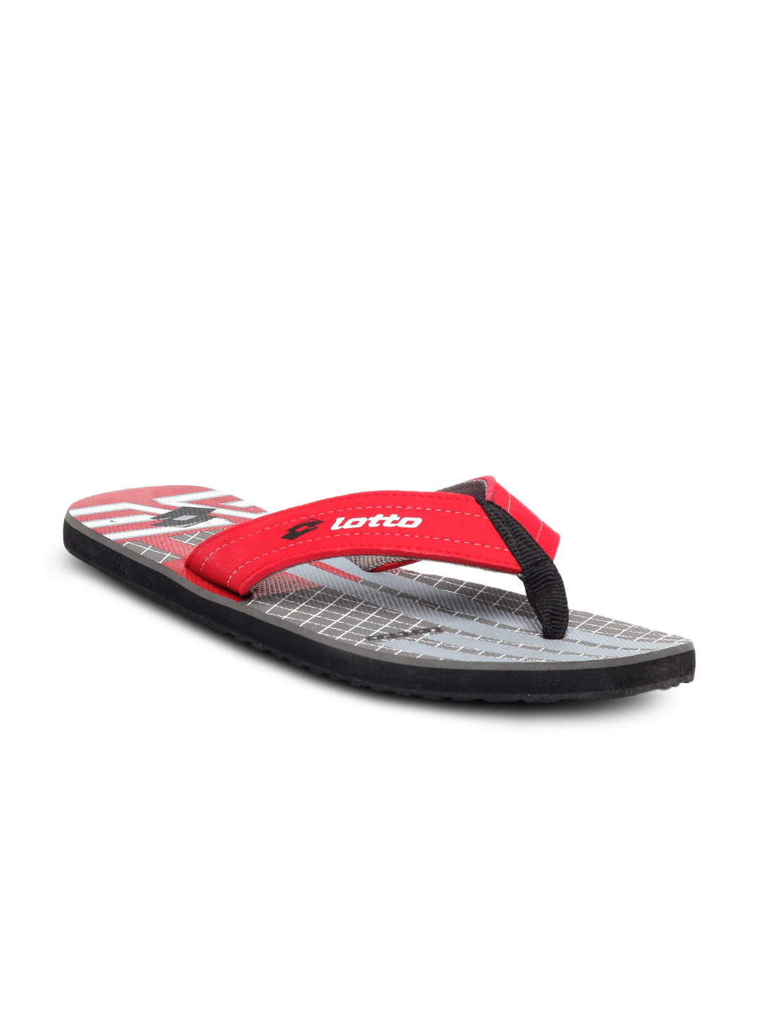 Lotto Men Red Flip Flops