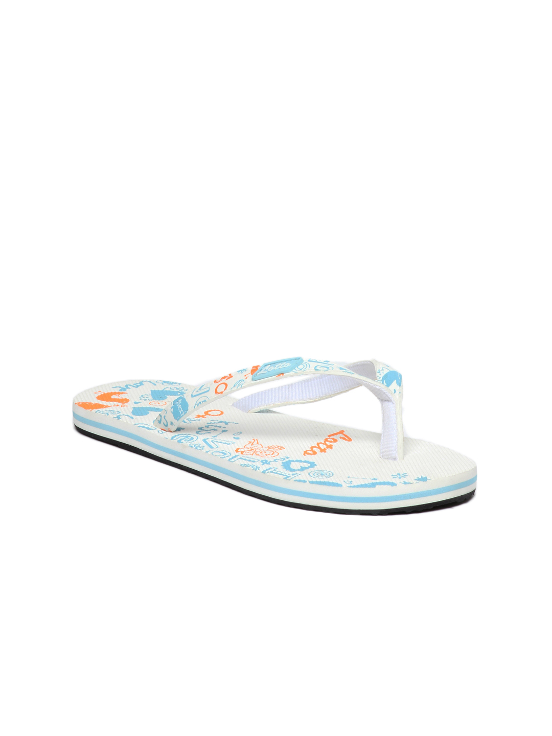 Lotto Women White Flip Flops