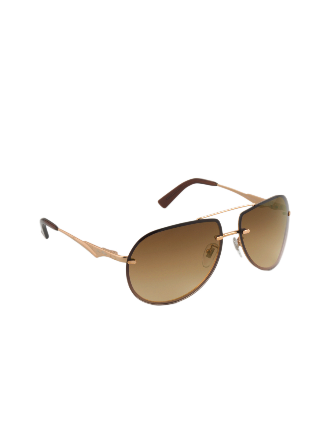 Louis Philippe Men Gold Sunglasses