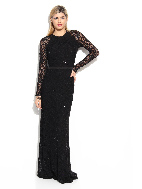 Mango lace maxi dress