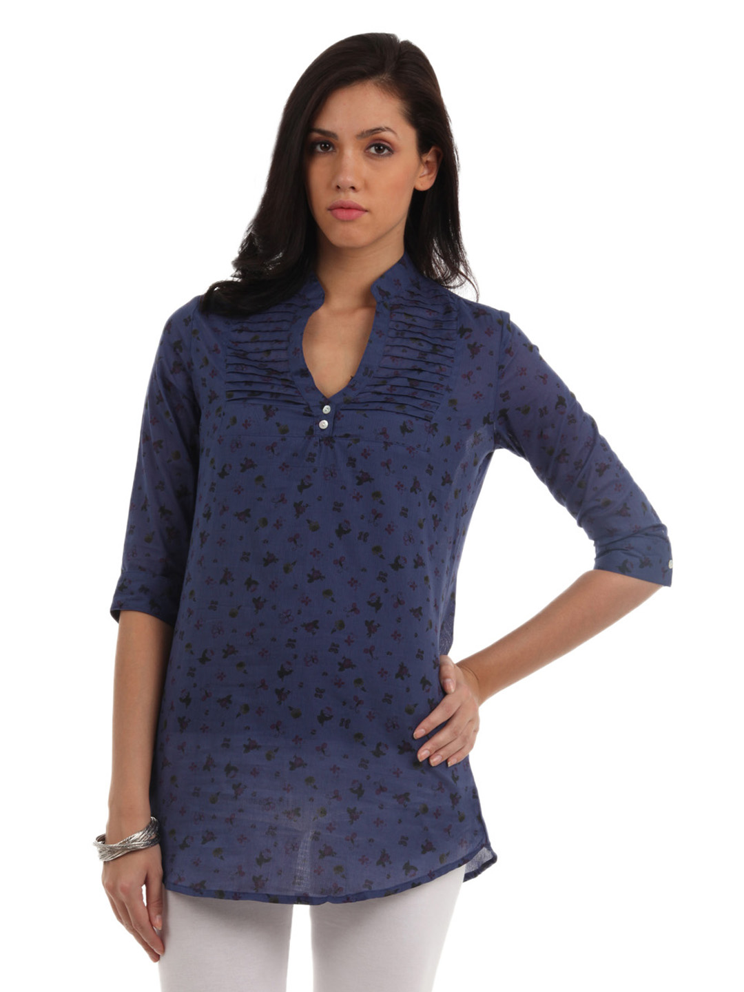Mumbai Slang Women Blue Tunic