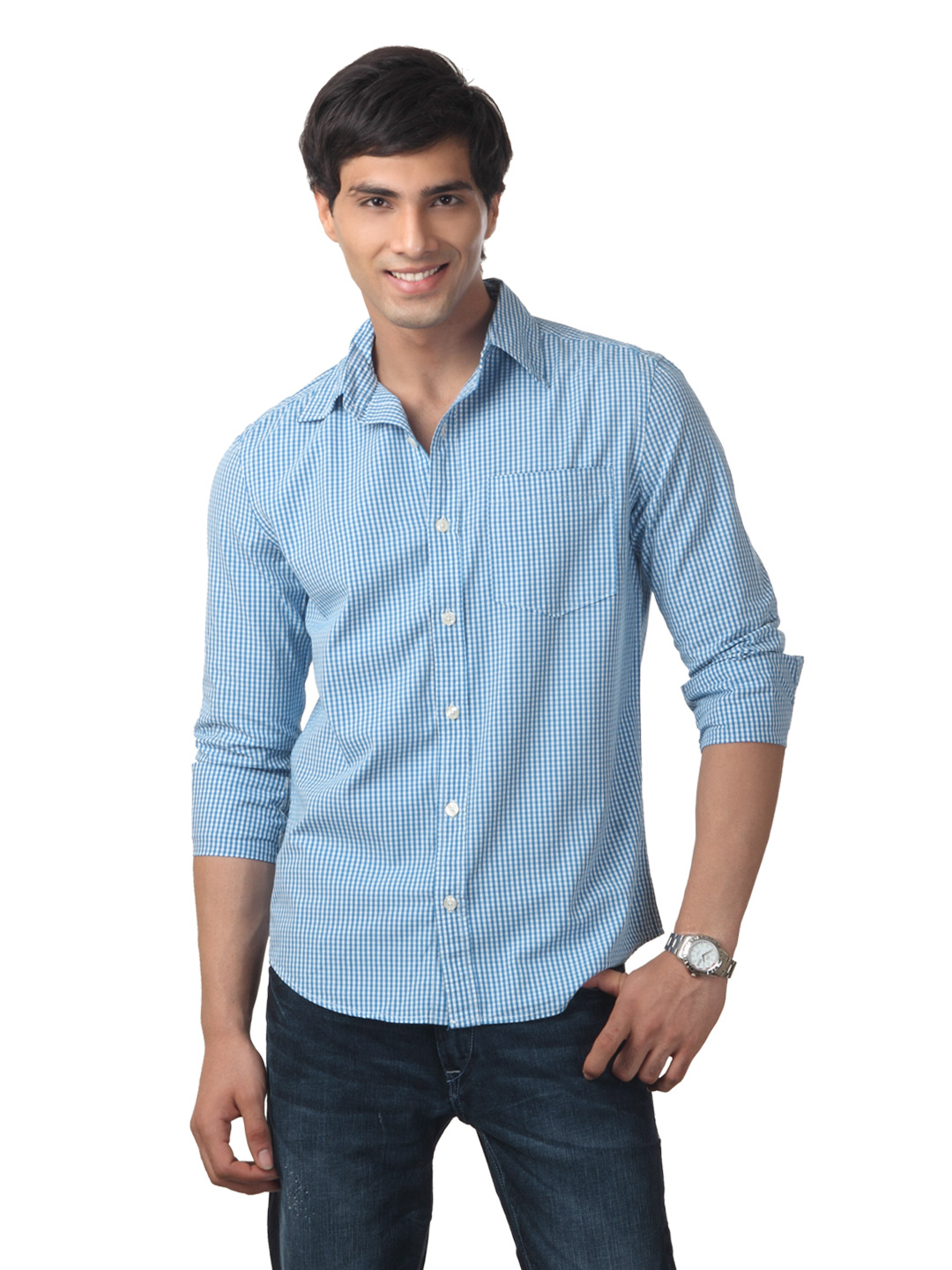 Myntra Men Blue Shirt
