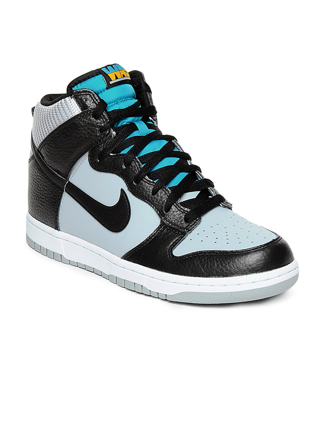 Nike Men Grey Dunk High Shoes
