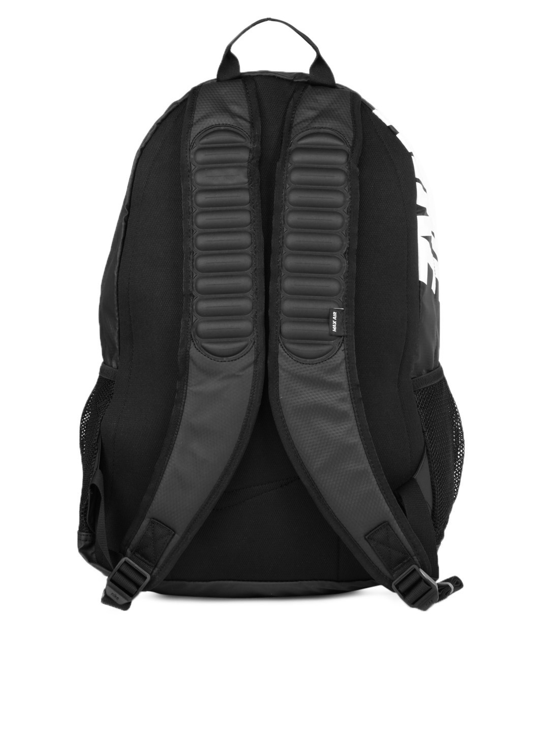 nike team black max air large backpack with laptop sleeve