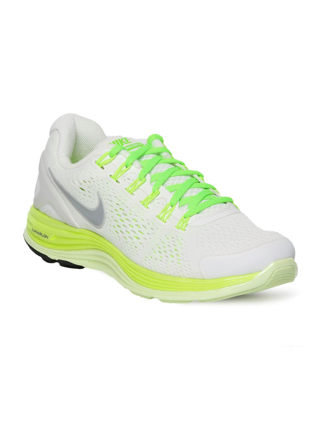 Nike Women White Lunarglide Sports Shoes
