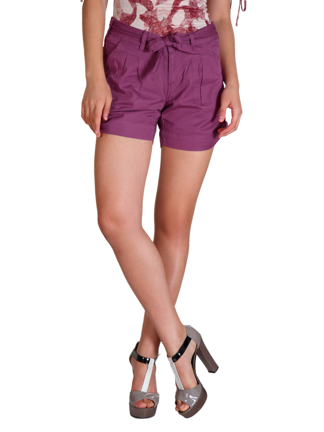 ONLY Women Purple Shorts
