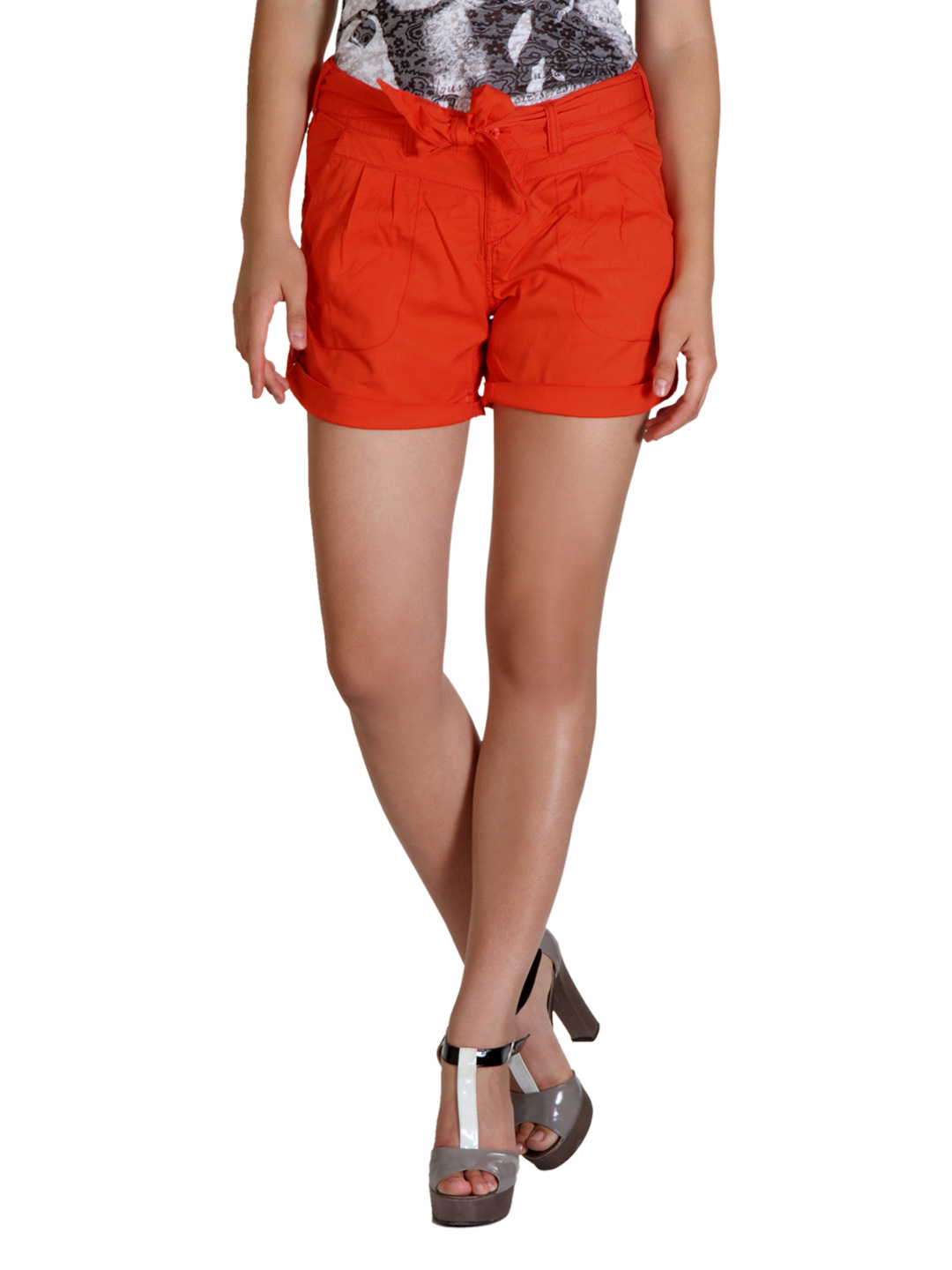 ONLY Women Orange Shorts