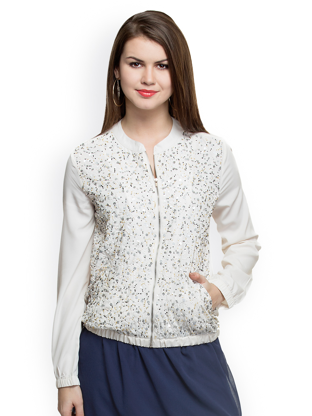 Oxolloxo Women White Jacket