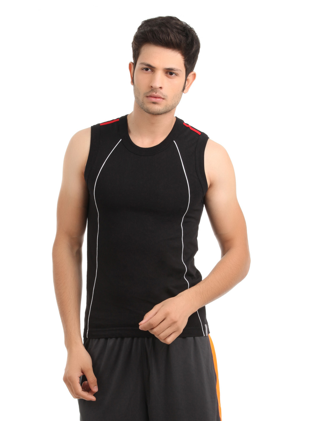 Park Avenue Men Black Innerwear T-Shirt