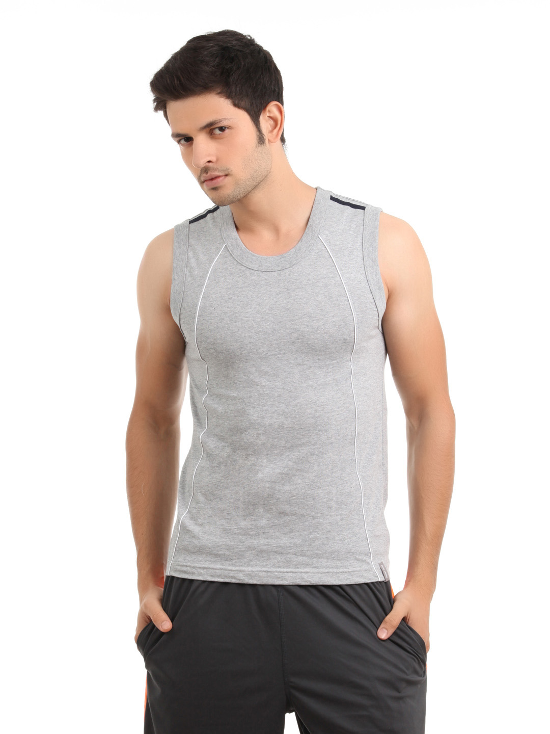 Park Avenue Men Grey Innerwear T-Shirt