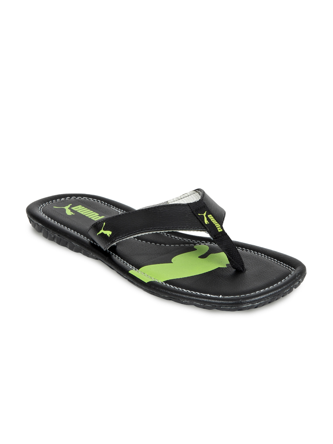 Puma Men Black Drifter Cat II Flip Flops