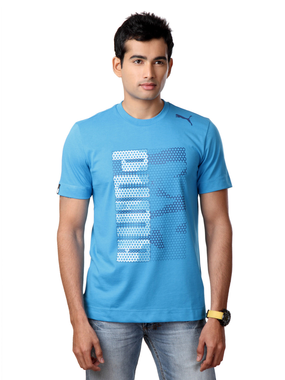 Puma Men Blue T-shirt